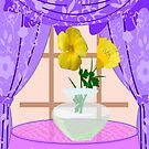 Butter cups in A vase by aldona