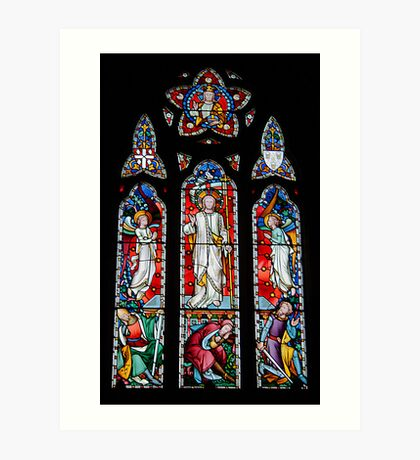East Window, St Catherine's Church, Kingsdown Art Print