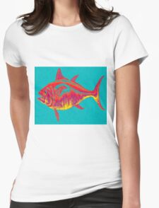 Abstract Fish Womens Fitted T-Shirt