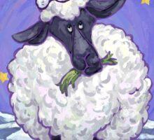 Sheep Christmas Card Sticker