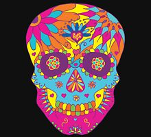 Coloured Sugar Skull Women's Fitted Scoop T-Shirt