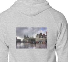 Aberdeen in the rain Zipped Hoodie