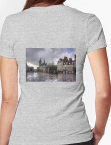 Aberdeen in the rain Womens Fitted T-Shirt