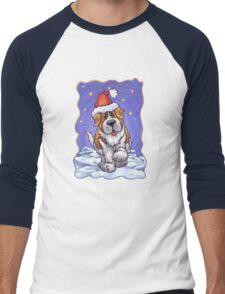 St. Bernard Christmas Men's Baseball ¾ T-Shirt