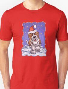 St. Bernard Christmas Unisex T-Shirt