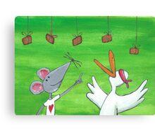 Mouse Party Canvas Print