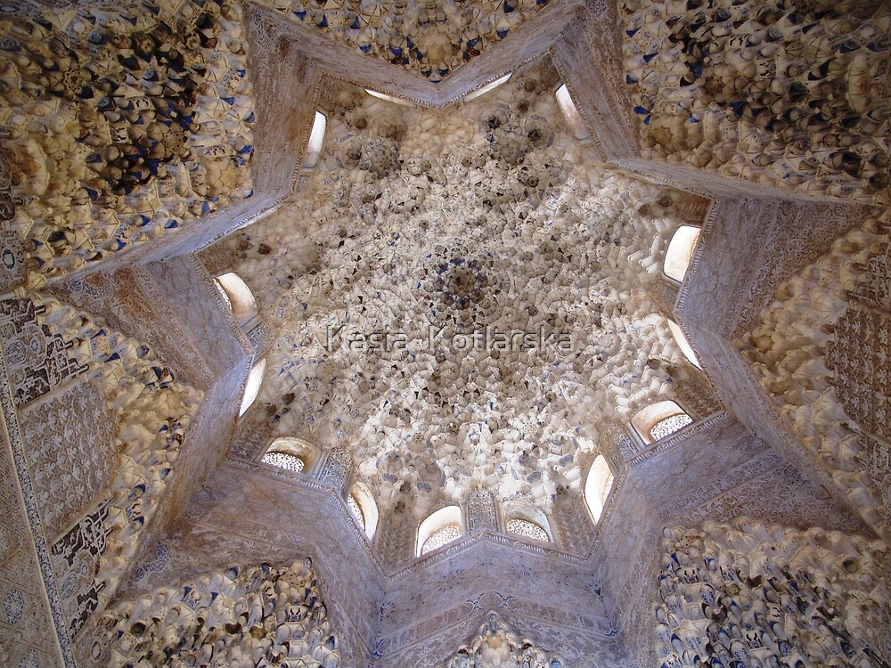 Ceiling in Alhambra by Kasia  Kotlarska