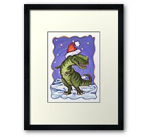 Tyrannosaurus Christmas Framed Print