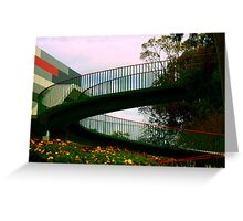 Wild flowers and a walking bridge Greeting Card