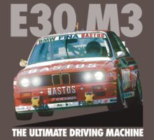 BMW E30 M3 DTM Racer (BASTOS) - White Text by fozzilized