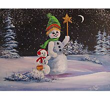 Snowmen in Acrylic 2 Photographic Print
