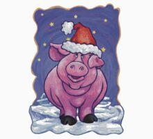 Animal Parade Pig Christmas One Piece - Short Sleeve