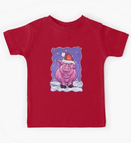 Animal Parade Pig Christmas Kids Tee