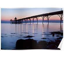 Clevedon Pier at twilight Poster