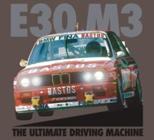 BMW E30 M3 DTM Racer (BASTOS) - Black Text by fozzilized