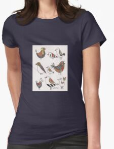 Chinese birds-origami paper Womens Fitted T-Shirt