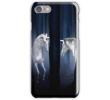 WHITE UNICORNS iPhone Case/Skin