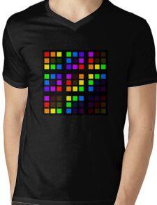 Subtle Colours Mens V-Neck T-Shirt