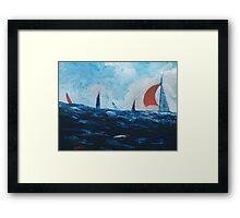 Sails around the Mizen Head, Ireland Framed Print