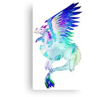 Feathered Dragon Opalite Canvas Print