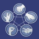 Big Bang Theory - Rock, Paper, Scissors, Lizard, Spock by Tiana Rapley
