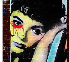 audrey hepburn graffiti by djnarelle