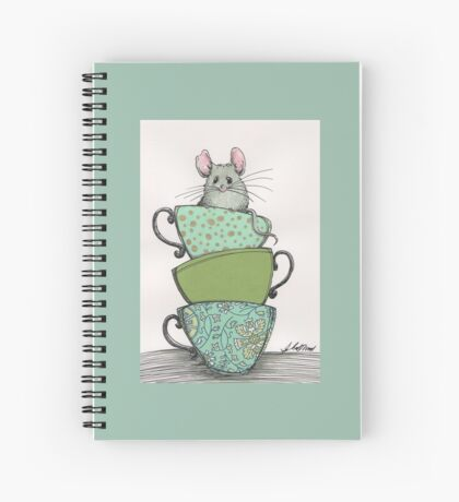 Peek-a-boo (mouse in teacup) Spiral Notebook