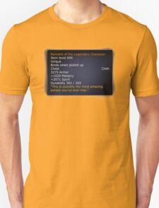 Rainment of The Legendary Character Unisex T-Shirt