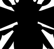 Bee Silhouette Sticker