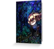 Catbus in the night Greeting Card