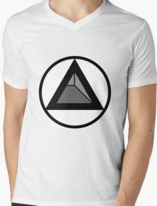 Triangular Circle Mens V-Neck T-Shirt
