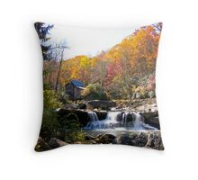 Glade Creek Mill in Fall Color Throw Pillow