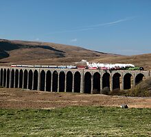 Tornado Crosses Ribblehead Viaduct by Jan Fialkowski