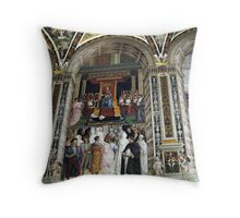 Siena Cathedral Interior 2 Throw Pillow