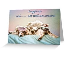 Welshie get well soon Greeting Card