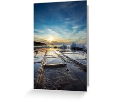 Tessellated Pavement at Dawn Greeting Card