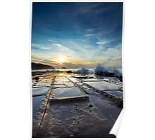 Tessellated Pavement at Dawn Poster
