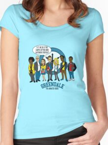 Greendale the Animated Series Women's Fitted Scoop T-Shirt