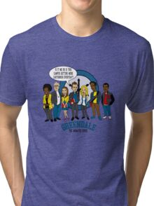 Greendale the Animated Series Tri-blend T-Shirt