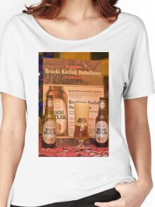 Offers good beer!!! Women's Relaxed Fit T-Shirt