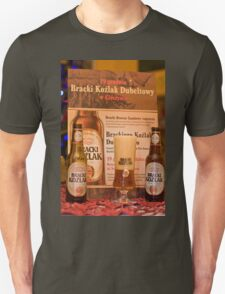 Offers good beer!!! Unisex T-Shirt