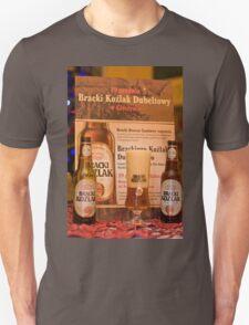 Offers good beer!!! Unisex T-Shirt