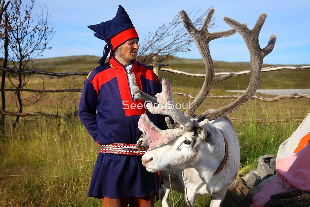 Sami & Reindeer - Nordkapp, Norway by SeeOneSoul