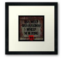 "Transformers - ""Bah Weep!"" Framed Print"