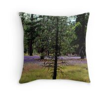 A forrest with sprinkles Throw Pillow