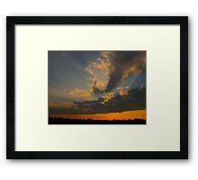 Night rays Framed Print