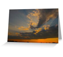 Night rays Greeting Card