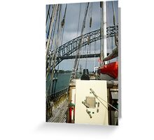 Tall Ships in Sydney harbour Greeting Card