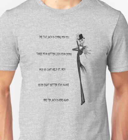Skellington on Elm Street Unisex T-Shirt