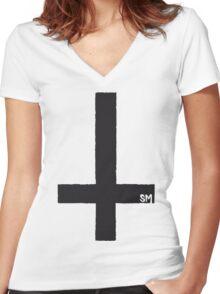 SIDECHAIN MASSACRE Wants Your Soul Women's Fitted V-Neck T-Shirt